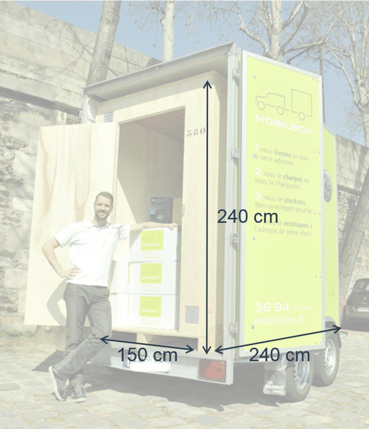 Dimensions box Mobilbox